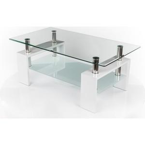 Стол стеклянный Woodville CT-52 белый лак стол стеклянный woodville lmt 118 оранжевый