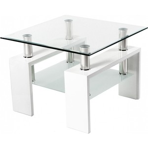 Стол стеклянный Woodville ST-052 белый стол стеклянный woodville 712t белый