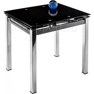 Стол стеклянный Woodville Kvadro 80 черный стол стеклянный woodville 712t белый
