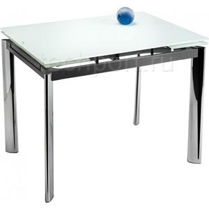 Стол стеклянный Woodville Cubo 100 экстра белый кофейный стол cubo