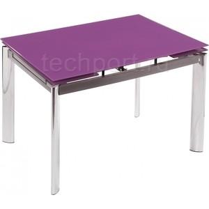 Стол стеклянный Woodville Cubo 100 фиолетовый кофейный стол cubo