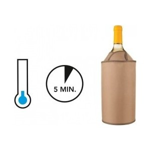 Охладительная рубашка для вина Vacu Vin Тюльпан черная (38704606 ) охладительная рубашка для напитков в банках vacu vin rapid ice can cooler silver