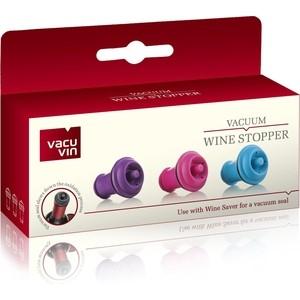 Пробка для вакуумного насоса 3 штуки Vacu Vin (8850606) пробка д игристых вин vacu vin черная с функцией каплеуловителя
