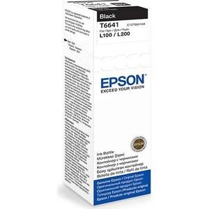 Чернила Epson L120/132/1300/222/312/366/382/486/566/605/655/ черные 70ml (C13T66414A) картридж epson t6641 c13t66414a black для l100 l200 l366 l312 l120 l222