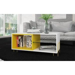 ТВ подиум Manhattan Comfort BODEN BM 72-128 белый/желтый бластер bebelot bm 16 beb1106 050