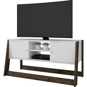 ТВ подиум Manhattan Comfort SALVADOR BR 376-143 белый/деревянные ножки