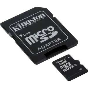 Kingston microSD 8Gb Class 10 + adapter (SDSDC10/8GB)