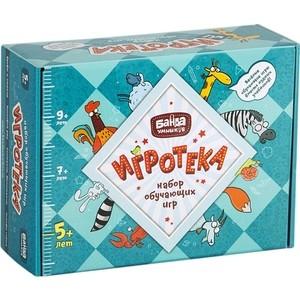 Развивающая настольная игра Банда Умников Игротека 5+ (настольные игры Турбосчет, Зверобуквы, Этажики и Трафик-Джем) (УМ080) настольные игры банда умников настольная игра квестик шпионский