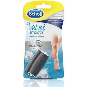 Scholl Сменные роликовые насадки 1 экстражесткий ролик + 1 ролик для полировки для электрической роликовой пилки ролик fit 02178
