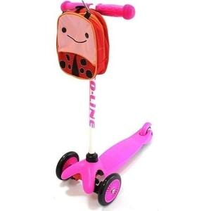 Самокат Amigo Bliss с рюкзаком розовый