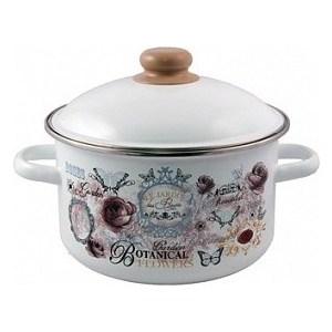 Кастрюля эмалированная 4.0 л Appetite Roses (1RD201M) бордюр keros ceramica varna cen roses 5х50
