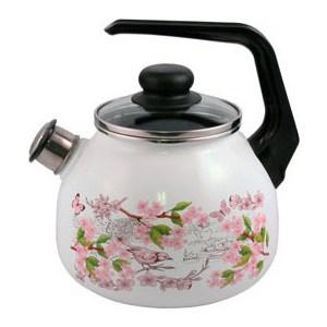 Чайник эмалированный со свистком 3.0 л Appetite Bird (4с209я) кастрюля appetite bird 3 л 6rd181m