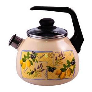 Чайник эмалированный со свистком 3.0 л Appetite Citrus (4с209я) кастрюля appetite citrus 2 л