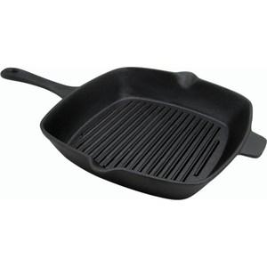Сковорода-гриль чугун 27,5х25 см Myron cook Tradition 2 (MC7274) кастрюля чугунная 5 0 л myron cook tradition hea25 mc5052