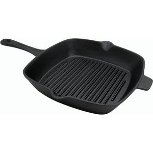 Сковорода-гриль чугун 27,5х25 см Myron cook Tradition 2 (MC7274) сковорода гриль myron cook tradition he83 mc7236