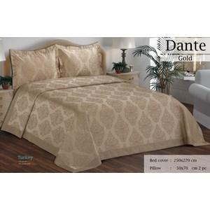 Покрывало Do and Co Dante золотой гобелен 250х270+2 наволочки 50x70 (9512золотой)