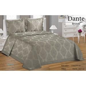 Покрывало Do and Co Dante коричневый гобелен 250х270+2 наволочки 50x70 (9512коричневый)