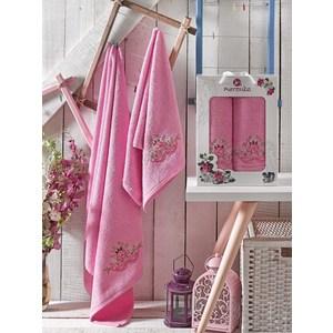 где купить Набор из  2 полотенец Merzuka Demo розовый махра 50x90/70x140 (9332розовый) по лучшей цене