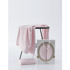 Набор из  2 полотенец Two dolphins Lenny светло-розовый махра 50x90/70x140 (9481светло-розовый) lenny