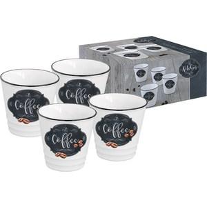 Набор из 4-х чашек для кофе Easy Life (R2S) Кухня в стиле Ретро (EL-R1602_KIBC) чайная пара easy life кухня в стиле ретро чай 2 предмета