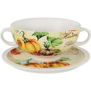 Суповая чашка на блюдце Imari Дары природы (IMB0304A-A2352) чайная пара imari дары природы 2 предмета