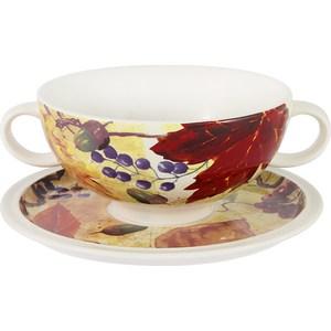 Суповая чашка на блюдце Imari Кленовый лист (IMB0304A-A2351) суповая чашка на блюдце шампань 939343