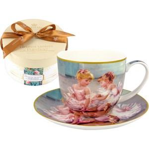 Чашка с блюдцем Carmani Балерины (CAR2-045-0213-AL) садовое освещение счастливый дачник лягушата l 0213