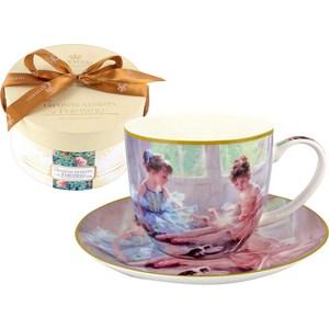 Чашка с блюдцем Carmani Балерины у окна (CAR2-045-0210-AL) чашка с блюдцем terracotta дерево жизни tly314s2 tl al