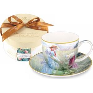 Чашка с блюдцем Carmani Васильки (CAR2-045-0208-AL) чашка с блюдцем terracotta дерево жизни tly314s2 tl al