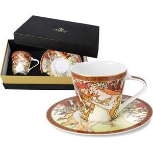 Чашка с блюдцем Carmani Весна А. Муха (CAR2-539-5001) чашка кружка carmani чашка с блюдцем осень а муха car2 539 5003