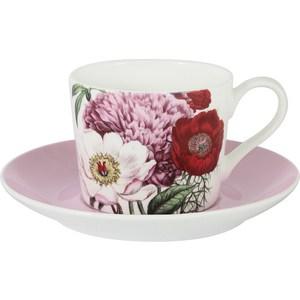 Чашка с блюдцем Anna Lafarg Stechcol Лаура розовая (AL-17821A-PIN-TCS-ST) чашка с блюдцем terracotta дерево жизни tly314s2 tl al