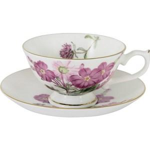 Чашка с блюдцем Anna Lafarg Stechcol Лаура розовые цветы (AL-17821-D-TCS-ST) фотоаппарат sony cyber shot dsc rx100 ii