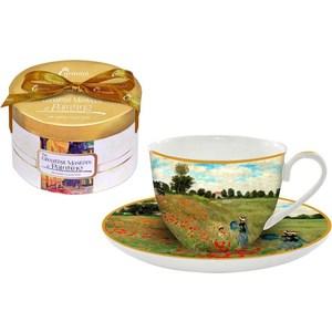 Чашка с блюдцем Carmani Маковое поле Моне (CAR2-045-0303-AL)
