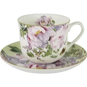 Чашка с блюдцем Anna Lafarg Stechcol Райский сад жёлтая (AL-17815-YEL-BCS-ST) кружка осенний сад r2s611 seas al