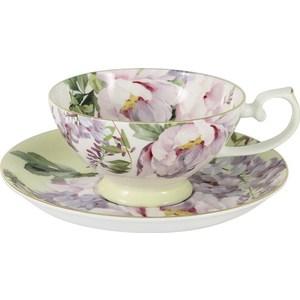 Чашка с блюдцем Anna Lafarg Stechcol Райский сад жёлтая (AL-17815-YEL-TCS-ST) райский сад