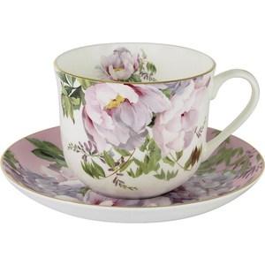Чашка с блюдцем Anna Lafarg Stechcol Райский сад розовая (AL-17815-PIN-BCS-ST) кружка осенний сад r2s611 seas al