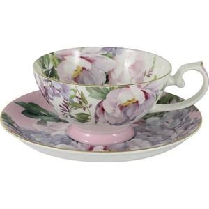 Чашка с блюдцем Anna Lafarg Stechcol Райский сад розовая (AL-17815-PIN-TCS-ST) кружка осенний сад r2s611 seas al