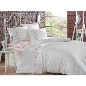 Комплект постельного белья Dantela Vita Евро, сатин с вышивкой, Rosa (9341)  rosa евро чёрный