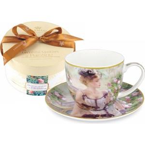 Чашка с блюдцем Carmani Утреннее чаепитие (CAR2-045-0212-AL) чашка с блюдцем carmani дама с собачкой car2 045 0211 al