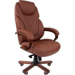 Офисное кресло Chairman СН 406 PU бежевое longarm 406