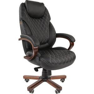 Офисное кресло Chairman СН 406 PU черное офисное кресло chairman 403 кожа pu черное