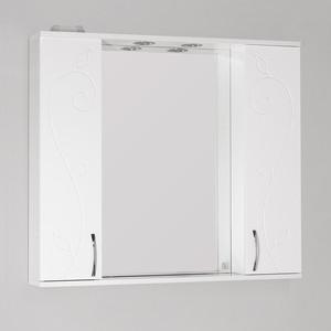 Зеркальный шкаф Style line Панда 90 Фьюжн со светом (2000949054681) зеркальный шкаф style line панда волна 60 со светом 2000949039916