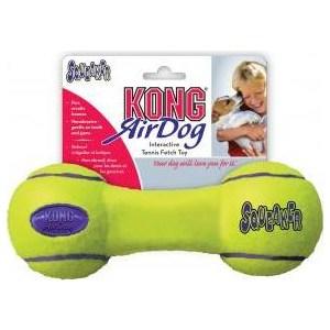 Игрушка KONG Air Squeaker Dumbbe Large ''Гантель'' большая 23см для собак