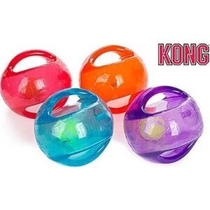 Игрушка KONG Jumbler Ball Medium/Large Dog Мячик 14см резина (цвета в ассортименте) для собак средних и крупных пород игрушка для собак kong джумблер мячик синтетическая резина 18см