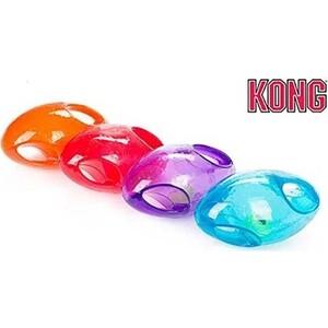 Игрушка KONG Jumbler Football Medium/Large Dog Регби 18см резина (цвета в ассортименте) для собак средних и крупных пород игрушка для собак kong джумблер мячик синтетическая резина 18см