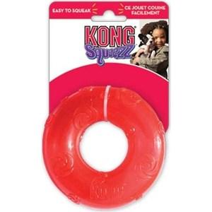 Игрушка KONG Squeezz Ring Large Кольцо большое 16см резиновое с пищалкой для собак