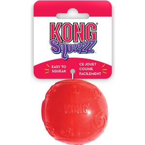 Игрушка KONG Squeezz Ball Extra Large Мячик очень большой 9см резиновый с пищалкой для собак игрушка для собак kong джумблер мячик синтетическая резина 18см