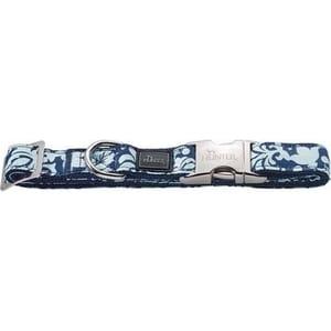 Ошейник Hunter Collar Krazy Baroque ALU-Strong M/20 (40-55см) нейлон с металлической застежкой синий с рисунком для собак