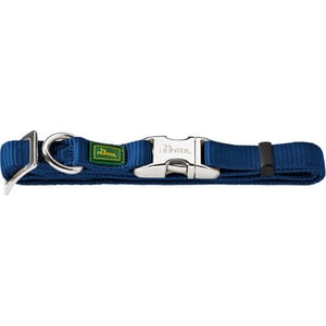 Ошейник Hunter Collar Vario Basic ALU-Strong L/25 (45-65см) нейлон с металлической застежкой темно-синий для собак ошейник hunter collar vario basic alu strong s 15 30 45см нейлон с металлической застежкой красный для собак