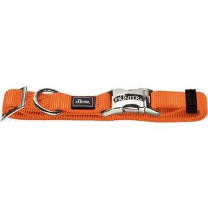 Ошейник Hunter Collar Vario-Basic ALU-Strong S/15 (30-45см) нейлон с металлической застежкой оранжевый для собак ошейник hunter collar vario basic alu strong s 15 30 45см нейлон с металлической застежкой красный для собак